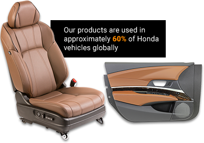 Our products are used in approximately 60% of Honda vehicles globally